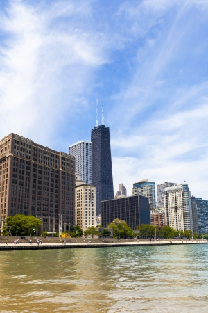 Chicago Skyline With Blue Clear Sky Stock Photo - 22202150