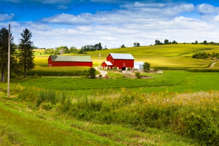 countryside landscape: Storm is Coming on American Country   Stock Photo
