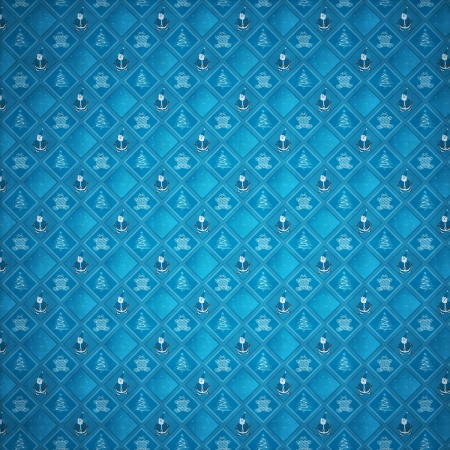 Retro Grunge Christmas Pattern or Old Wrap Paper photo