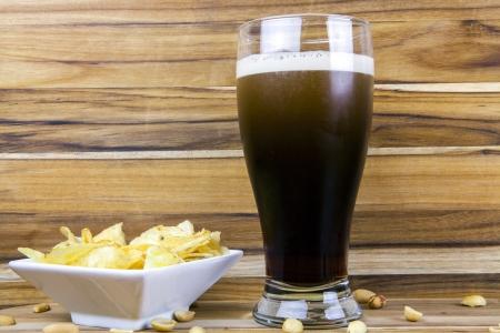 cerveza negra: Cerveza Stout Foto de archivo