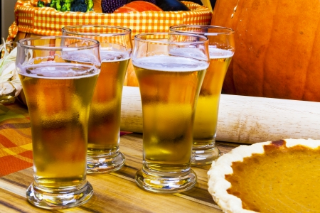 Beer Flight With Pumpkin Pie photo