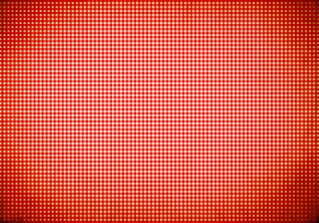 vignette: Red tablecloth background with vignette