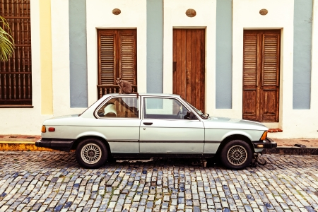 Retro Car on San Juan Street photo