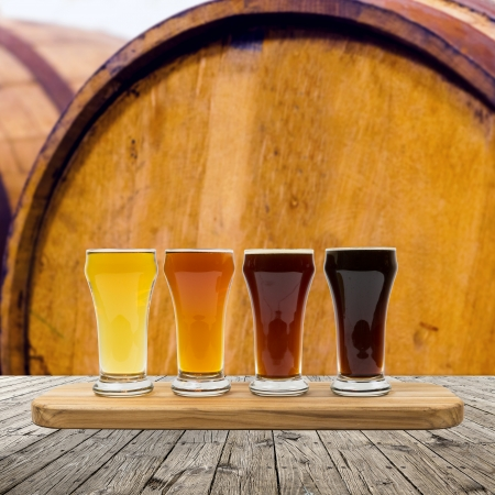 craft background: Beer Flight