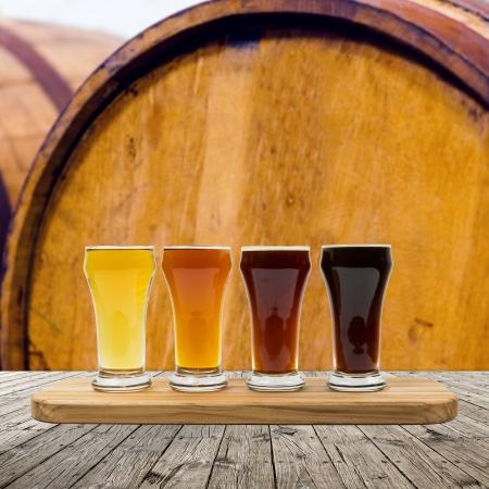 brouwerij: Bier Vlucht Stockfoto