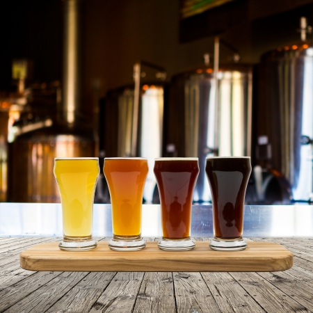 Bier Vlucht Stockfoto
