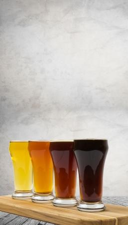 Beer Flight in the Brewery