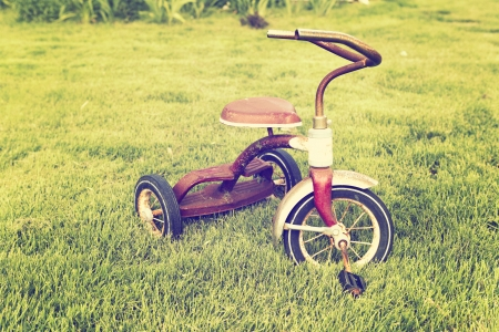 antique tricycle: Old tricycle