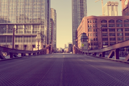 bridges: Chicago Bridge - Vintage Picture Effect