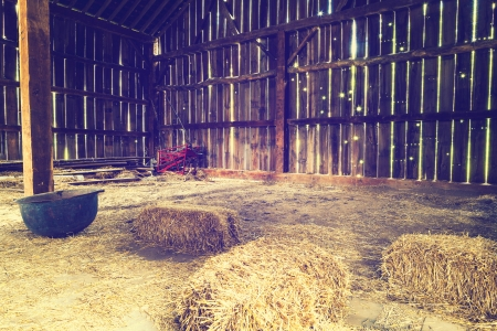 country house: Inside the old barn