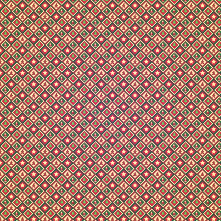 Retro Grunge Christmas Pattern or Old Wrap Paper