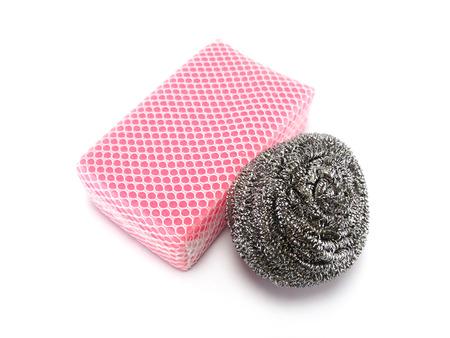 steel dish washing sponge photo