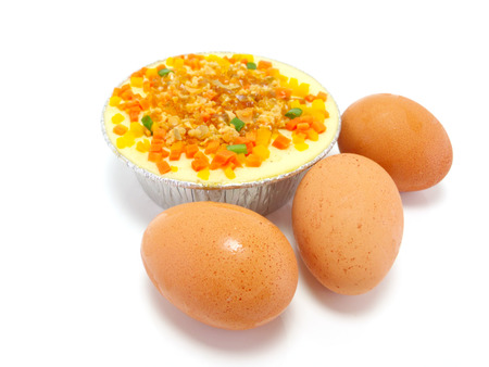 japanese cookery: Thai steamed eggs pork chop and fresh eggs