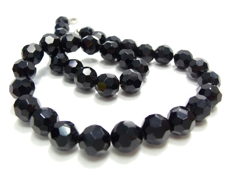 close up of black crystal bead photo