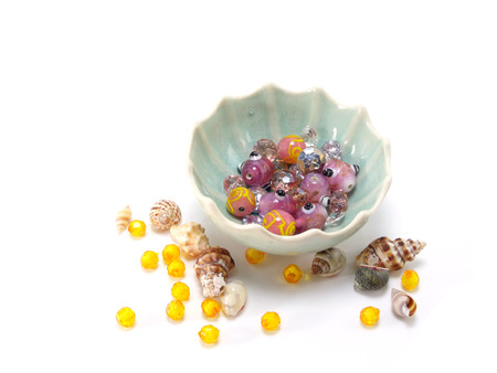 colorful beads: Colorful Beads Decoration Stock Photo