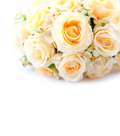 objec: fake roses plastic roses lot of artificial flowers Stock Photo