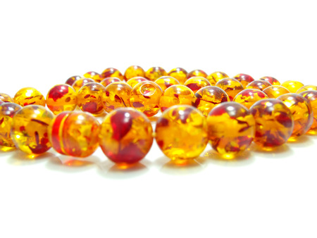 close up of orange crystal bead photo