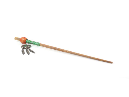 wood craft: hairpin wood craft chopsticks Stock Photo