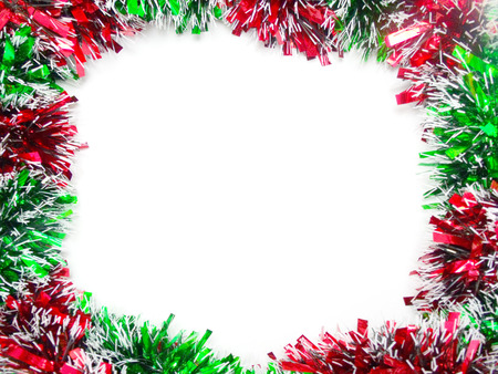 md: Green md Red tinsel decoration