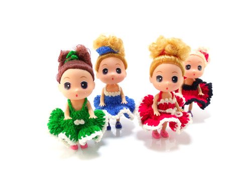 collectible: collectible baby girl cute doll with colorful knitting dress