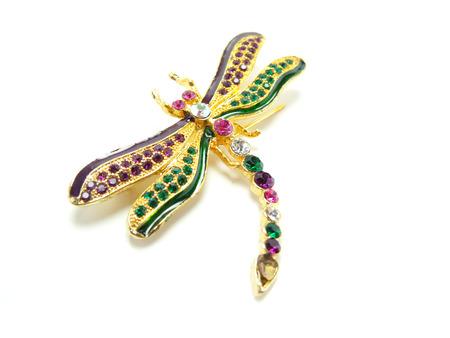 brooch: dragonfly brooch Stock Photo