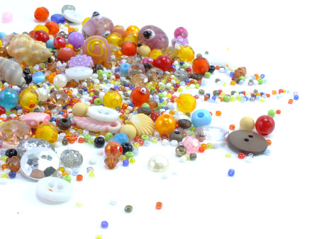 colorful beads: colorful beads isolated on white background