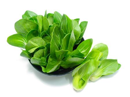 green vegetable: green vegetable on white background Stock Photo