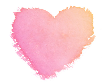 love image: painted heart symbol of love