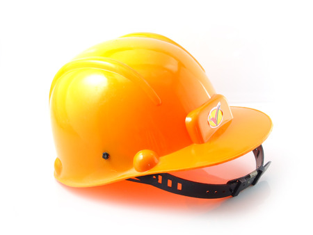 yellow hard hat: yellow hard hat isolated on white background