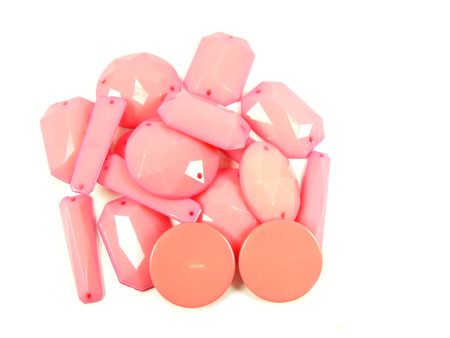 bead: Collection of Pink Bead Stock Photo
