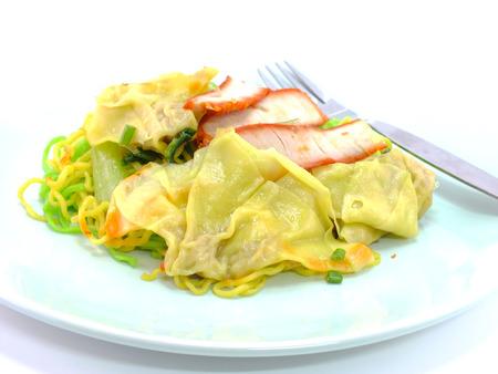traditonal: chinese food wonton and noodle for traditonal gourmet dumpling