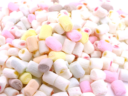 marshmallows: colorful marshmallows candy for background