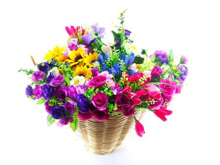 fake: fake flowers in basket studio shot