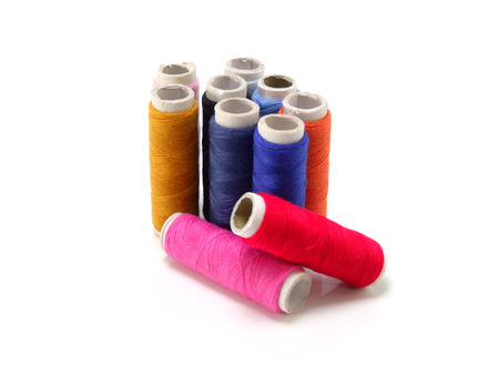 cotton thread: colorful cotton thread isolated on white background