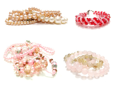 jewelery: collection  jewelery crystal isolated on white background