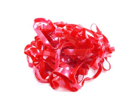 rubberband: elastic rubber on white background Stock Photo