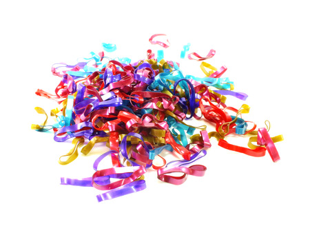 rubberband: mixed elastic bands on the white background Stock Photo