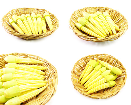 baby corn: set of baby corn  isolated on white background