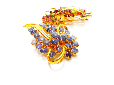 jewellry: jewellry brooch isolated on white background