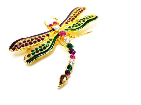 jewellry: dragonfly jewellry brooch Stock Photo