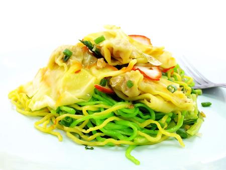 traditonal: chinese food wonton and noodle for traditonal gourmet dumpling image