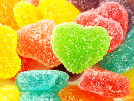 fruit jelly: assortment of colorful fruit jelly candy