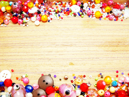 bead: colorful bead wooden background