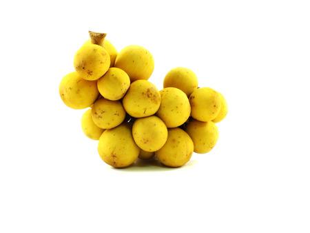 lanzones: longkon langsat or lanzones sweet fruit on white background