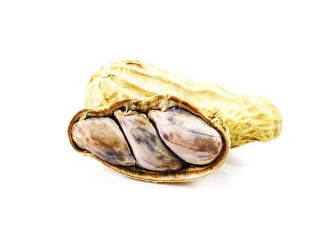 monkey nut: peanuts isolated on white background
