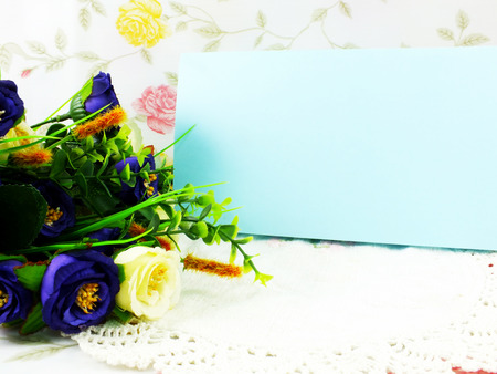 space for writing: beautiful flower decoration and free space for space for writing