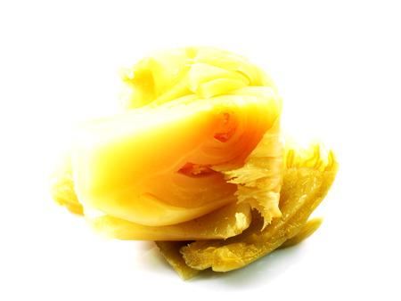 mustard leaf: pickled mustard leaf in brine Stock Photo