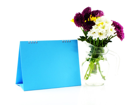 ��copy space �: beautiful flower and space blue frame space for copy