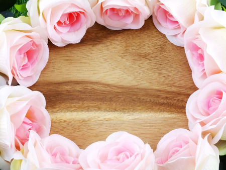 garden frame: romantic floral frame with roses
