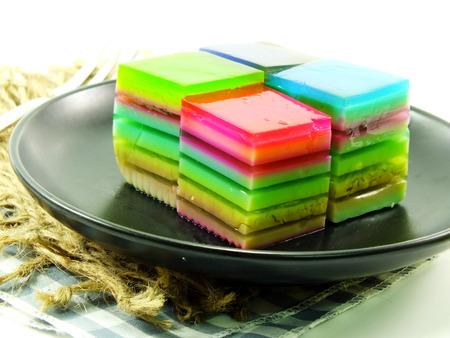 multi layered: multi layered fruit jelly